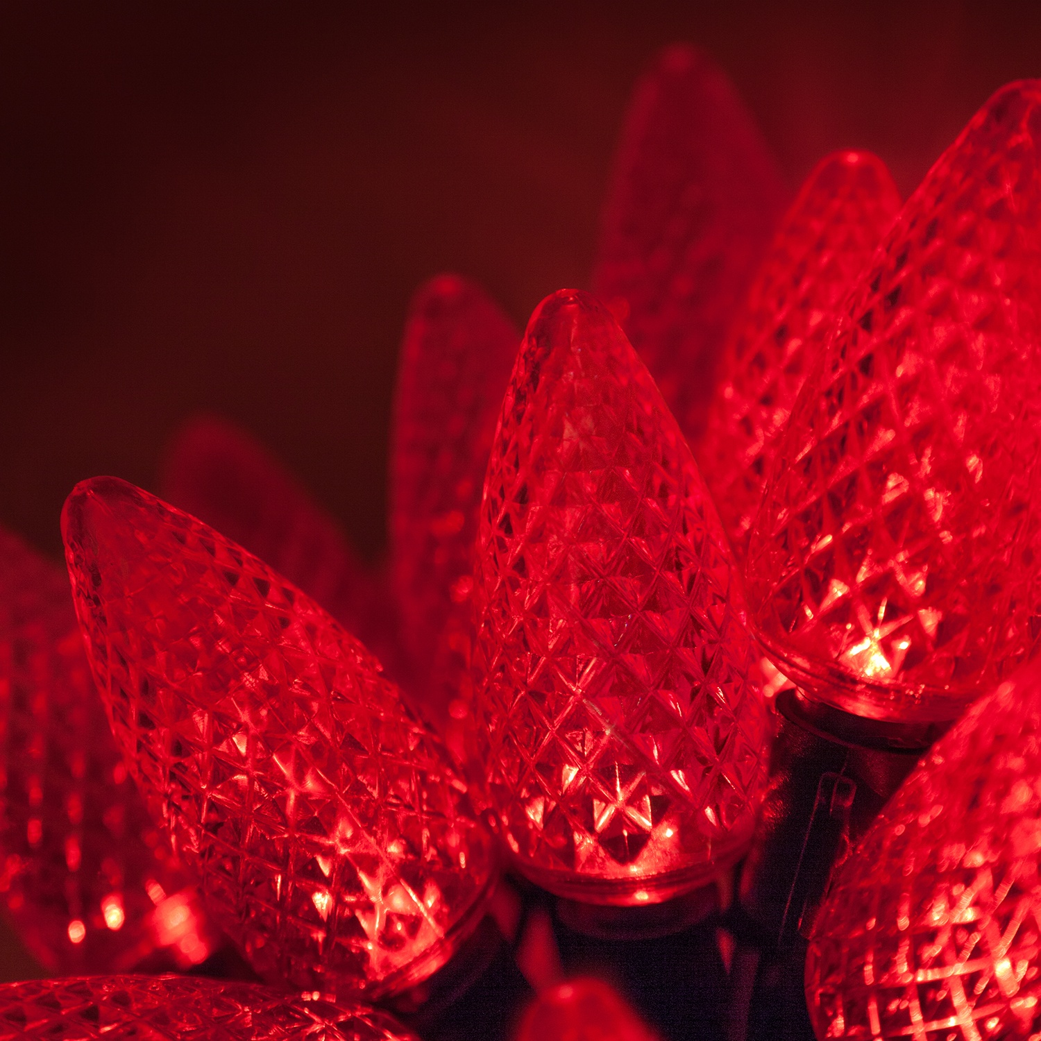 LED Christmas Lights - 25 C9 Red LED Christmas Lights, 8\