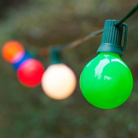 Outdoor String Lights Multicolor : Christmas Lights - 25 G50 Opaque Multicolor Patio Lights