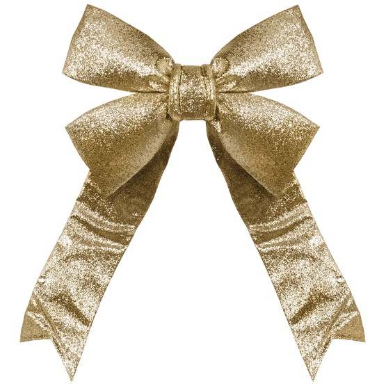 Gold Decorative 3d Glitter Christmas Bow