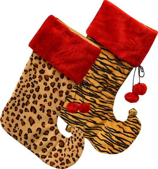 19 animal print stockings 2 piece set