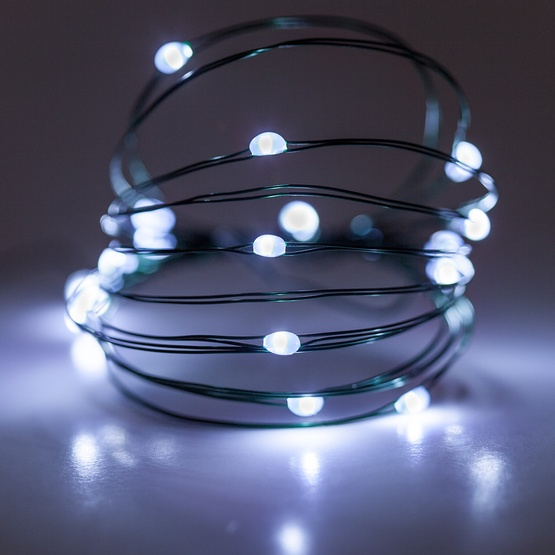 Battery Operated Lights 18 Cool White Led Fairy Green Wire