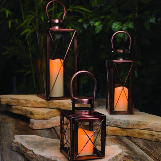 Copper candle lantern - Lanterne exterieure bougie ...
