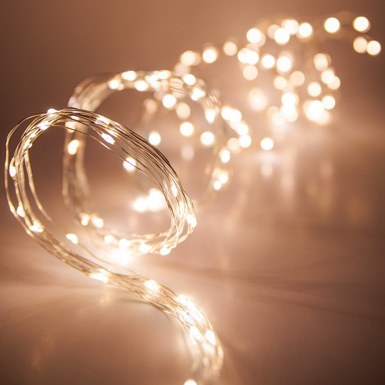 Novelty Lights - 6\' Ten Strand Light Spray with Warm White LED Lights