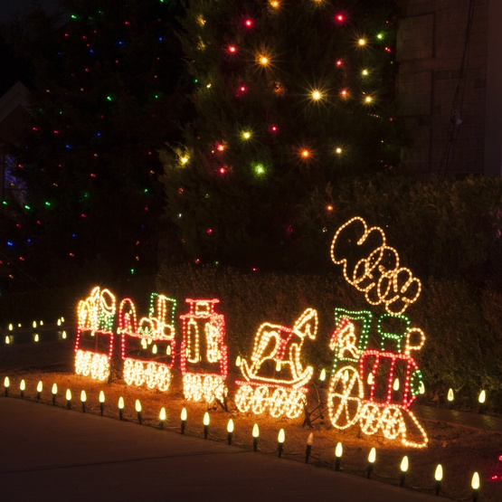 17' Rope Light Train - Outdoor Decoration - 17' Rope Light Train