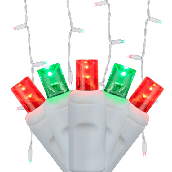 70 5mm red green led icicle lights