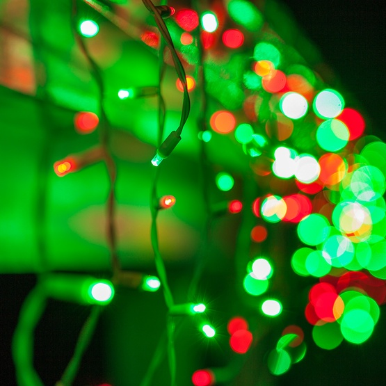 70 5mm red green led icicle lights - Red And Green Led Christmas Lights