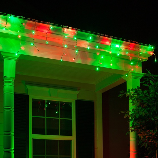 Led Christmas Lights 70 5mm Red Green Led Icicle Lights