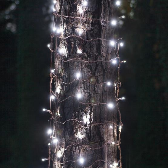 LED Net Lights - 2\' x 6\' LED Trunk Wrap Lights - 100 Cool White ...