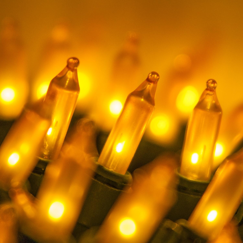 Christmas Lights - 100 Gold Frost Mini Christmas Lights, 6 ...