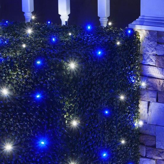 LED Net Lights - 4\' x 6\' LED Net Lights - 100 Blue, Cool White Lamps ...