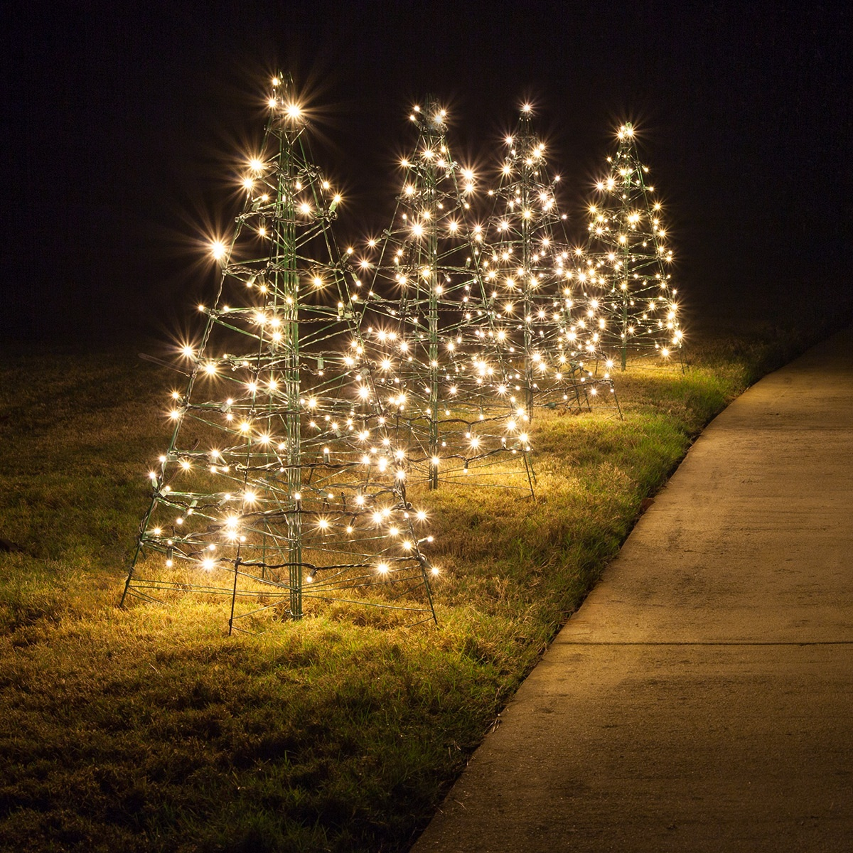 Great Lighted Warm White LED Outdoor Christmas Tree