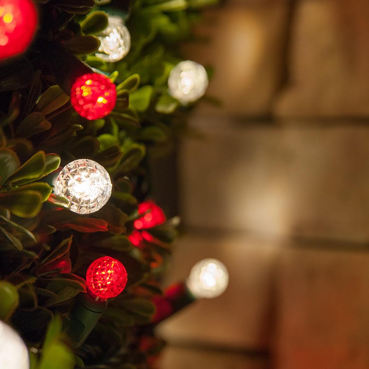 Led Christmas Lights 70 G12 Warm White String 4 Spacing