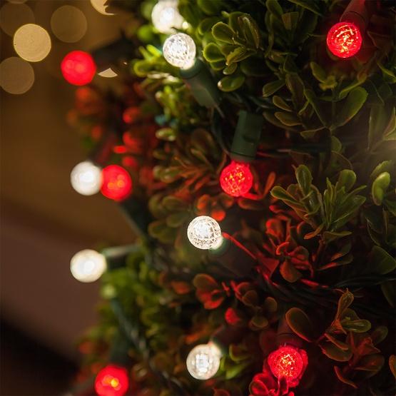 LED Christmas Lights - 70 G12 Red LED String Lights, 4 ...