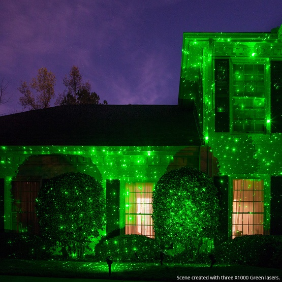 - Green X1000 Laser Christmas Light Projector