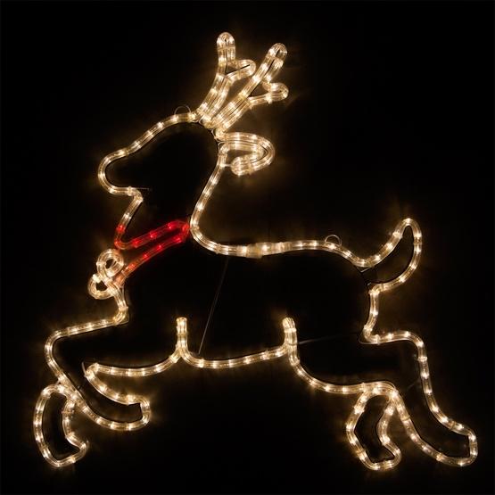 28 led reindeer warm white lights