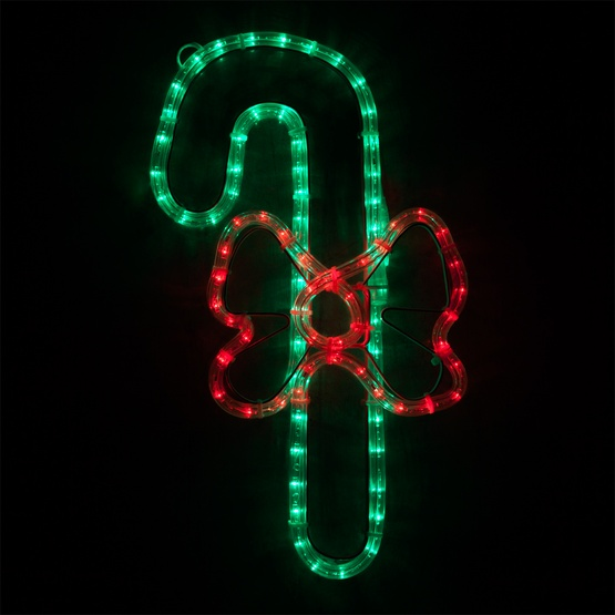 Outdoor Candy Cane Lights Outdoor decoration 20 led candy cane with a bow red and green lights 20 led candy cane with a bow red and green lights workwithnaturefo