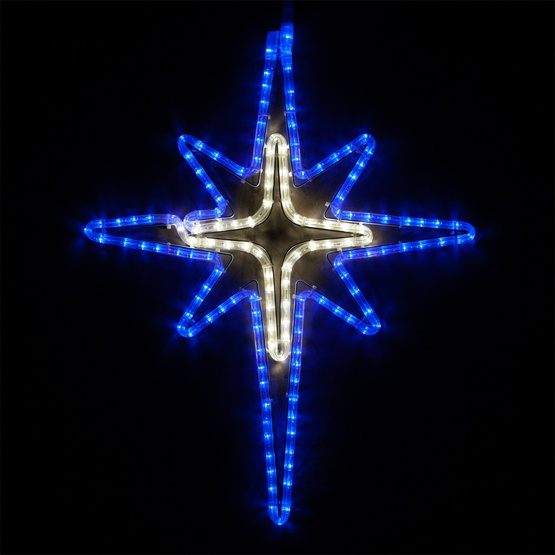 Snowflakes Amp Stars 28 Quot Led Blue And Cool White Bethlehem