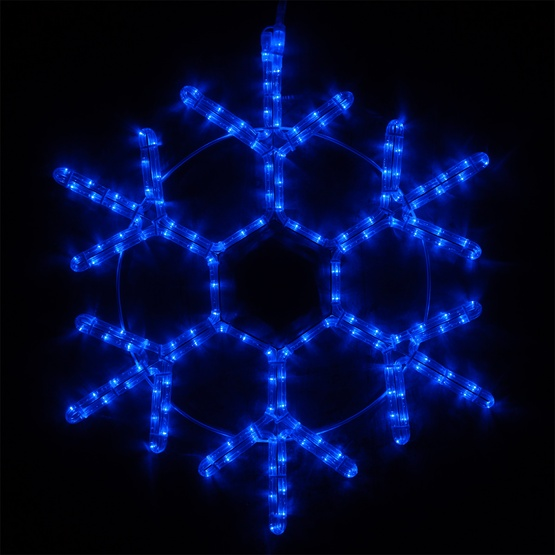 Snowflakes Amp Stars 12 Quot Led 18 Point Snowflake Blue Lights