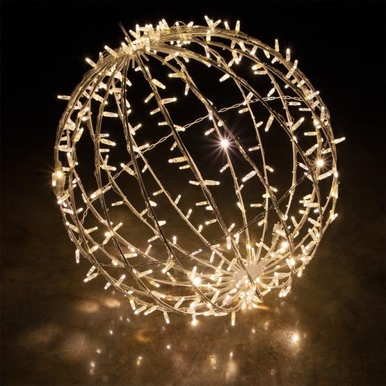 warm white led commercial mega sphere christmas light ball fold flat