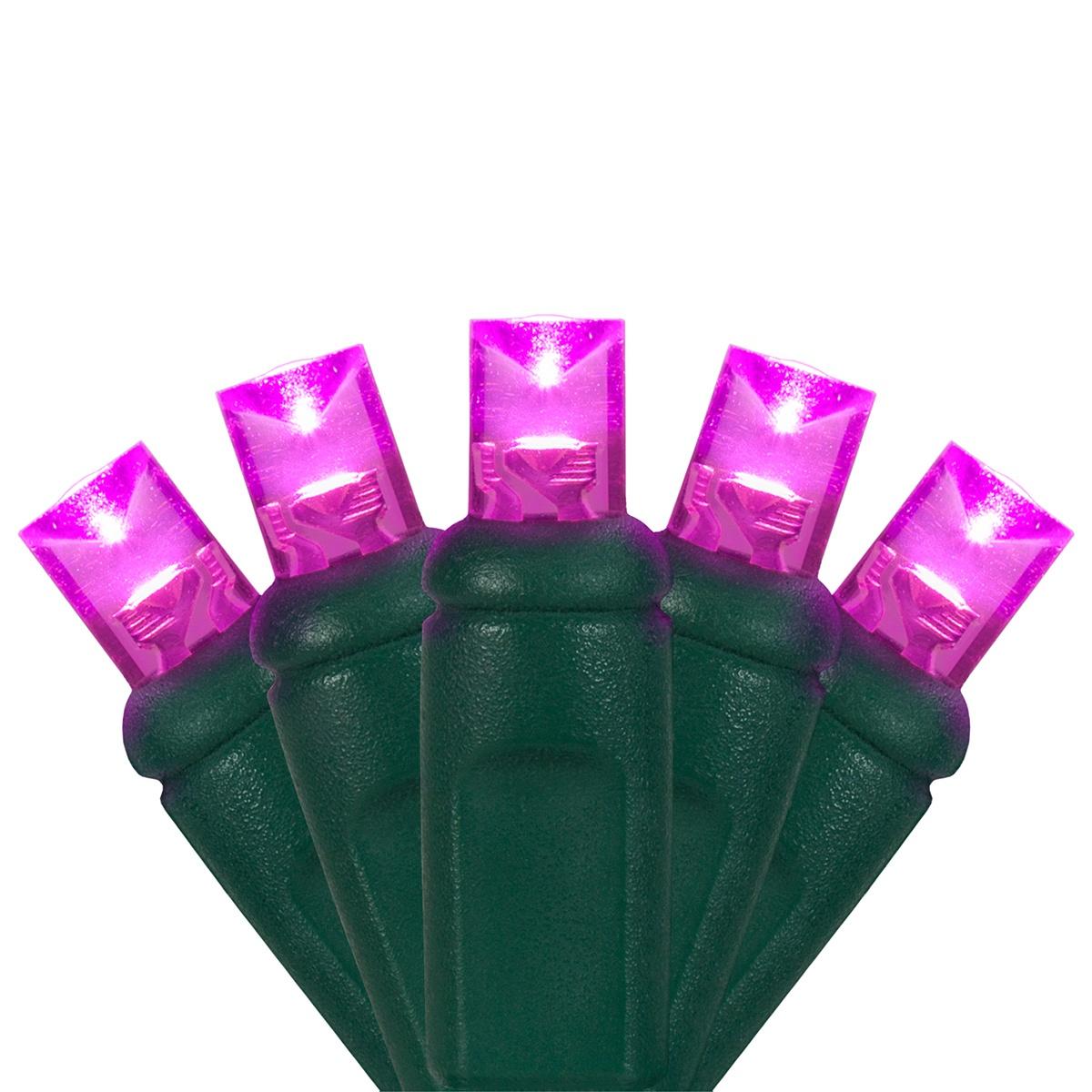 Wide Angle 5MM LED Lights - 70 5mm Pink LED Christmas Lights, 4 ...