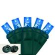 "Commercial 25 5mm Blue LED Christmas Lights, 4"" Spacing"