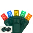 """Commercial 25 5mm Multi Color LED Christmas Lights, 4"""" Spacing"""