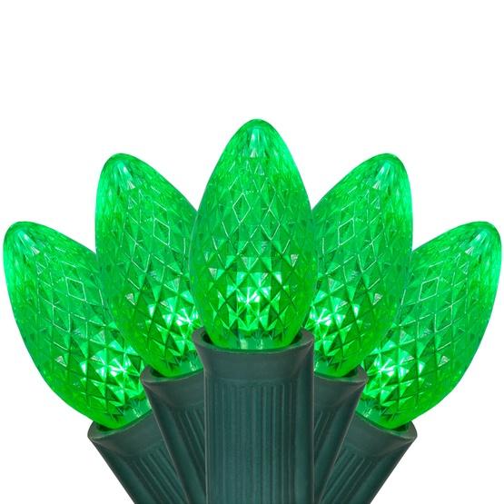 C7 Green Commercial LED Christmas String Lights - Christmas Lights - C7 Green Commercial LED Christmas Lights