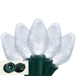 """Commercial 25 C7 Cool White LED Christmas Lights, 12"""" Spacing"""