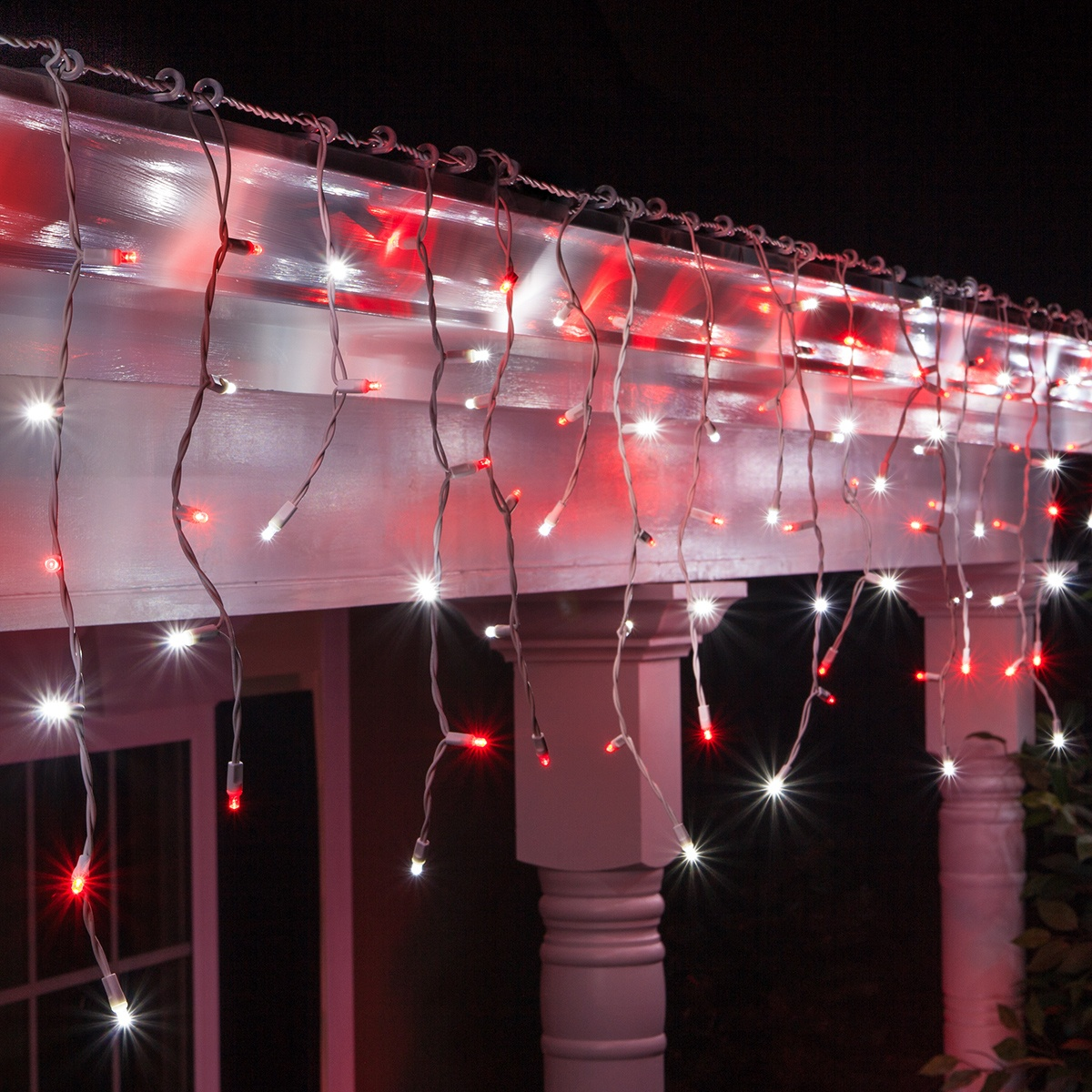 Red And Clear Christmas Lights
