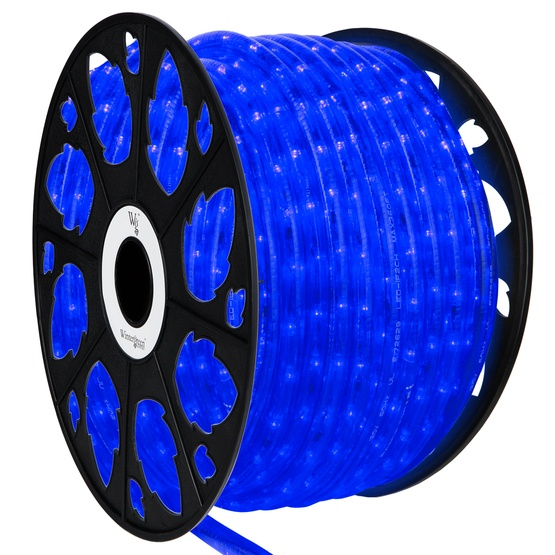 Led rope lights 150 blue led rope light commercial spool 120 volt 150 blue led rope light 2 wire 12 120 volt aloadofball Choice Image