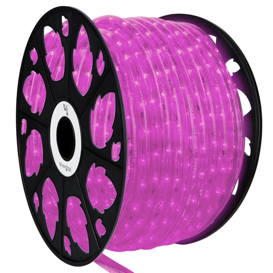Led rope lights 150 pink led rope light commercial spool 120 volt 150 pink led rope light 2 wire 12 120 volt aloadofball Images