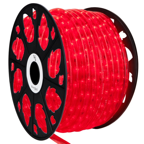 Led rope lights 150 red led rope light commercial spool 120 volt 150 red led rope light 2 wire 12 aloadofball Images