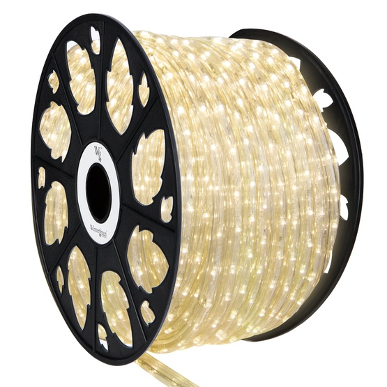 Led rope lights 150 warm white led rope light commercial spool 150 warm white led rope light 2 wire 12 mozeypictures Choice Image