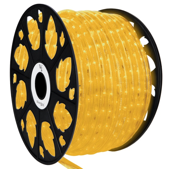 Led rope lights 150 yellow led rope light commercial spool 120 volt 150 yellow led rope light 2 wire 12 mozeypictures Gallery