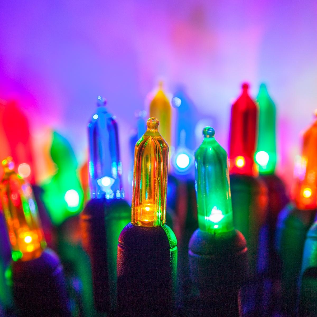 LED Christmas Lights - 50 T5 Multi Color LED Christmas Tree Lights ...