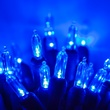 "50 T5 Blue LED Christmas Tree Lights, 6"" Spacing"