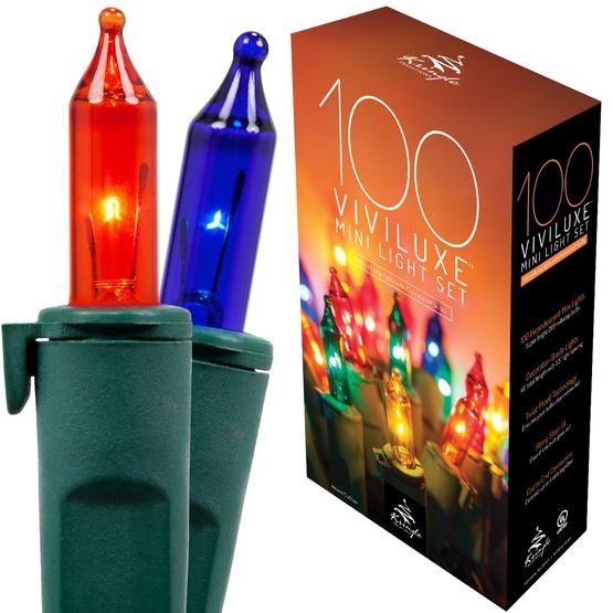 100 Viviluxe Multi Color Christmas Mini Lights, 5.5