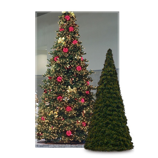 Commercial Christmas Tree.14 Olympia Pine Full Prelit Commercial Tree