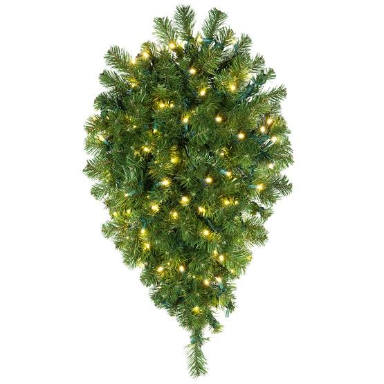 Teardrop Christmas Lights.Olympia Pine Prelit Commercial Led Teardrop Christmas Garland Warm White Lights