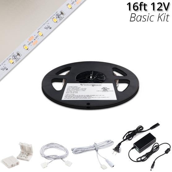 Basic 12v Led Strip Light Kit Pure White