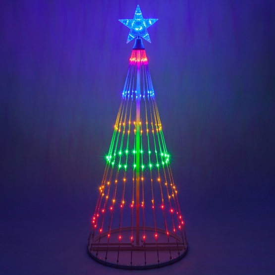Outdoor Light Up Christmas Tree.Multicolor Led Animated Outdoor Lightshow Tree