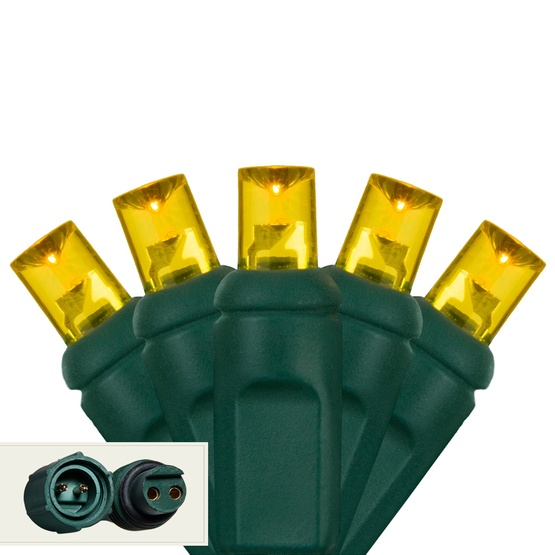 """Commercial 25 5mm Gold LED Christmas Lights, 4"""" Spacing"""