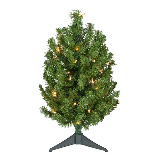 2' Douglas Fir Table Top Tree, 35 Clear Lamps