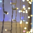 "50 5mm Warm White Twinkle LED Craft Lights, 6"" Spacing, White Wire"