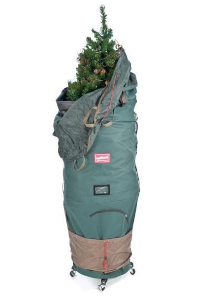 TreeKeeper Pro Adjustable Tree Storage Bag W/ Rolling Tree Stand