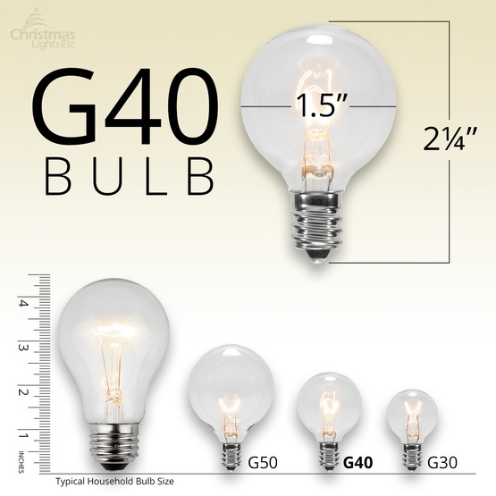 Patio Lights Commercial Clear Globe String Lights 50