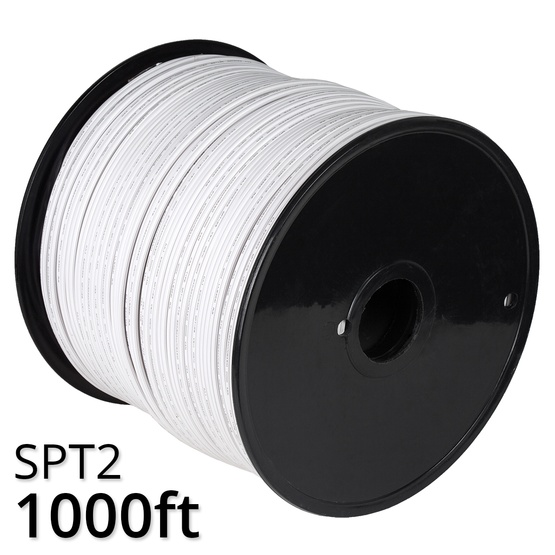 1000 white spt2 christmas light wire