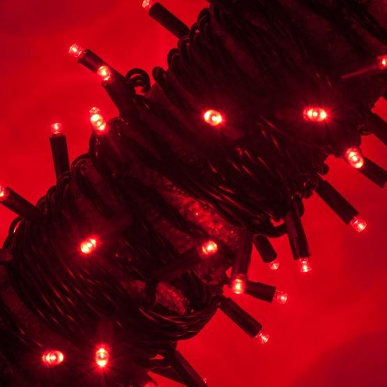 50 Red Christmas Lights, LED Mini