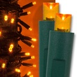 50 Orange Christmas Lights, LED Mini