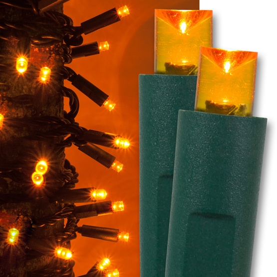 50 orange christmas lights led mini